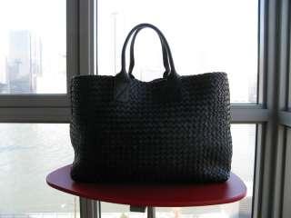 Bottega Veneta Soft Black Nappa Leather Extra Large Cabat Tote Bag