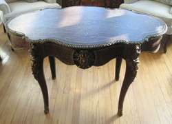 Ornate Antique French Napoleon III Bouille Center Table c. 1870