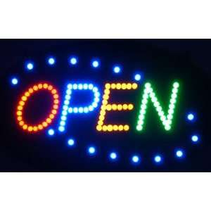 OPEN Four color Window Display LED Message Sign Electronics