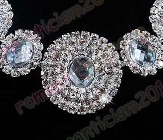 Free choker necklace earring set Czech crystal&acrylic