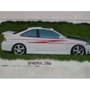 Side Graphics 22a Graphic Decal Decals stripe Stripes Fit all Car and