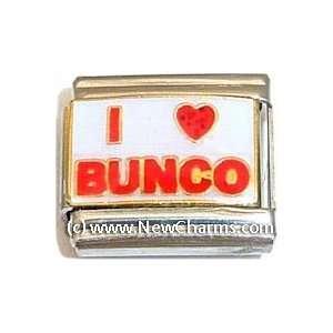 I Love Bunco Italian Charm Bracelet Jewelry Link Jewelry