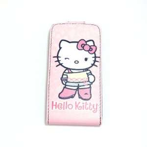 hello kitty pink stand flip leather case for iphone 4 4G