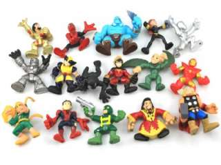 Lot 16 Marvel Super Hero Squad X Men Spider Man Iron Man