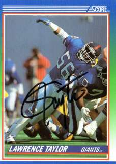 Lot of Signed New York Giants cards 1986 Super Bowl