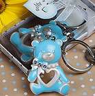 48 BABY SHOWER FAVORS BLUE TEDDY BEAR KEYCHAINS SUPE​R CUTE