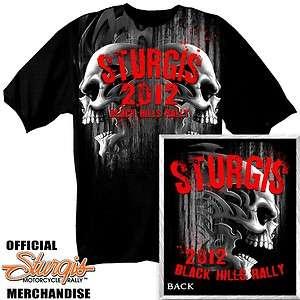 New BIKER STURGIS 2012 STEEL SKULLS SHORT SLEEVE ( L   3XL )