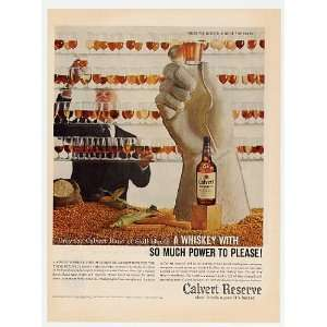 1959 Calvert Reserve Whiskey Hand Print Ad (7122)