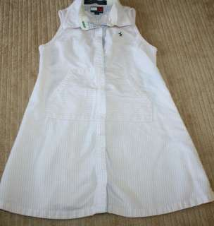 Girls size 3T Tommy Hilfiger pink & white striped Dress