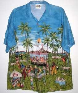 Blue JIMMY BUFFETTS MARGARITAVILLE Buttoned Front Shirt NICE