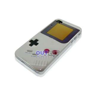 Game Boy Hard Case Cover For iPhone 4 4GS + Screen Protector