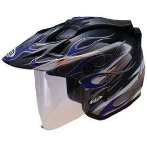 GMAX GM 27 Open Face Motorcycle Helmet   Black   Red
