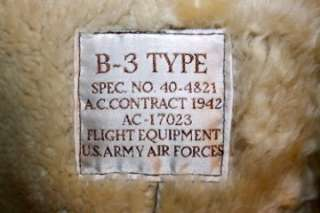 Shearling B 3 Jacket Bomber Pilot Calafate Aviator US Army Air Forces