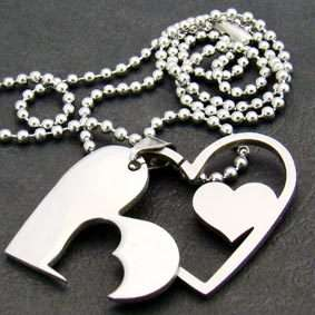 Stainless 316L Steel Heart Chain Pendant Necklace Fashion Jewelry