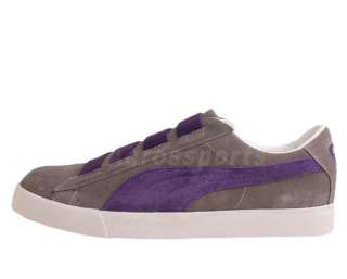 Puma Fat Lace Steel Grey Suede Purple Elastic 2011 Mens Casual Shoes