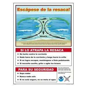 Sign Usla Rip Current Safety Spanish 8019Wd1824S Home