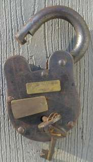 Cast Iron CSA Confederate States Armory Civil War Padlock Lock With