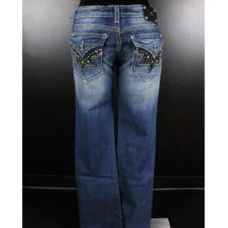NWT MISS ME JEANS Boot Cut Western Star & Pony Hive