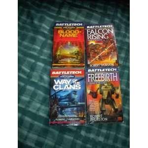 BATTLE TECH 4 BOOK LOT Robert Thurston AUTHOR Everything