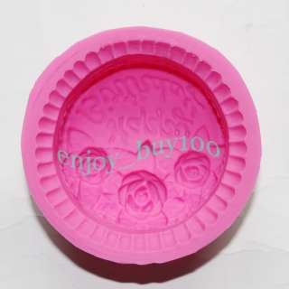 3pcs Silicone Cake Mold Chocolate Soap Candle Muffin Rose Shape Mould
