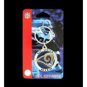 St Louis Rams Round NFL Football Keychain