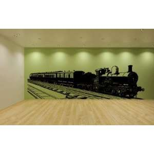 Huge Train Vinyl Wall Decal Sticker Graphic Mural By LKS