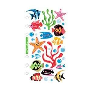 Vellum Stickers Tropical Fish SPVM 64; 6 Items/Order Home & Kitchen
