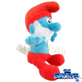 10 Deluxe THE SMURFS PAPA SMURF PLUSH DOLL STUFFED TOY