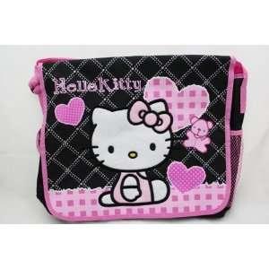 Licensed Hello Kitty BLACK Messenger Bag / Shoulder Bag