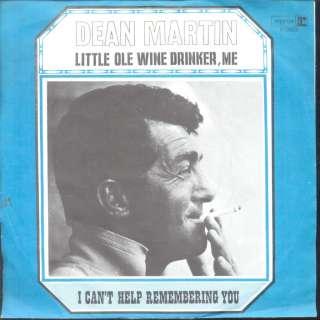Dean Martin   Little Ole Wine Drinker, Me Dutch 1967 PS 7