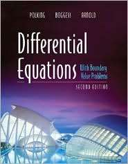 Differential Equations with Boundary Value Problems, (0131862367