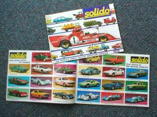 1976 SOLIDO Catalog Diecast/Die Cast Car/Truck