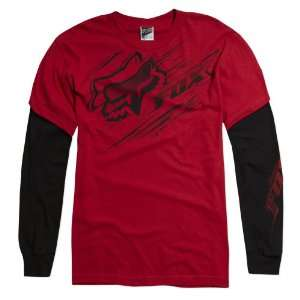 FOX Racing 47113 Boys SPEEDY 2Fer Layered Look Long Sleeve