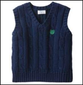 CHAPS RALPH LAUREN Baby Boy Sweater Vest NB NWT Newborn Navy