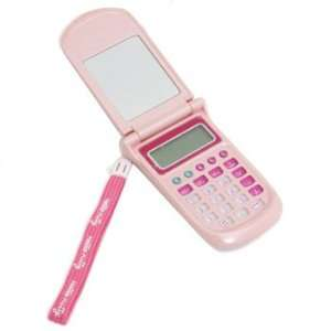 Hello Kitty Cat Pink Calculator / Flip Cell Phone   NEW