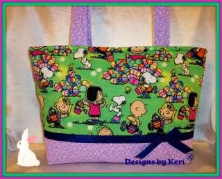 by Keri Easter Peanuts Gang Snoopy Charlie Brown Spring tote bag purse