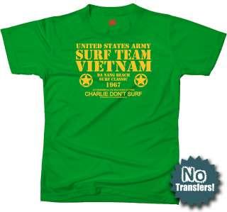 Surf Team Vietnam US Army Nam Charlie War New T shirt