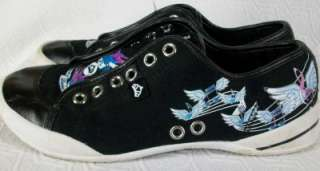 Fergalicious By Fergie The Duchess Black Tattoo Sneakers Shoes 6 M