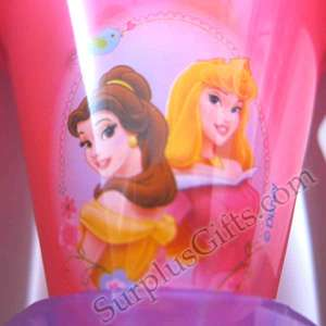 Disney Princess 3 Pack Snow Cone Tumbler Lid Straw Set   Container