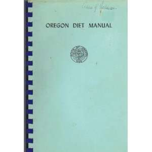 : Oregon State Board of Health; Oregon Dietetic Association: Books