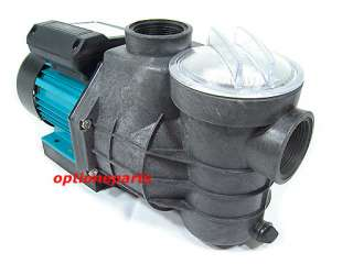 ELECTRIC WATER PUMP 1HP W/STRAINER SPA POND POOL