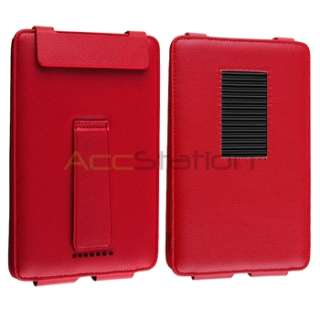 Noble Nook Tablet Red Folio Slim Leather Case Pouch with Stand