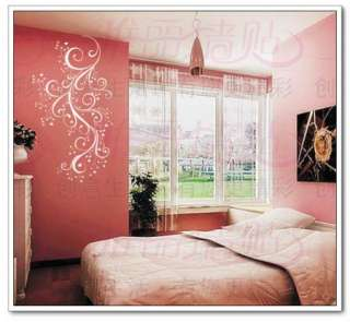 DIY Removable Heart Flower vine Vinyl Room Wall sticker Art Papers