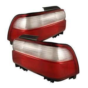 93 97 Toyota Corolla Red/Clear Tail Lights Automotive