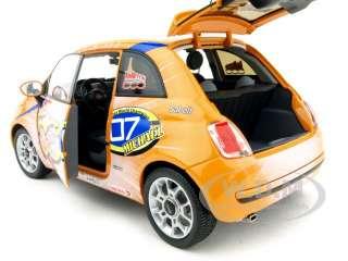 scale diecast car model of 2008 fiat 500 wrooom michael schumacher 1