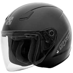 SparX FC 07 Open Face Motorcycle Helmet Black Automotive