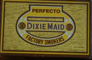 Vintage Perfecto Brand Dixie Factory made Cigar Boxes