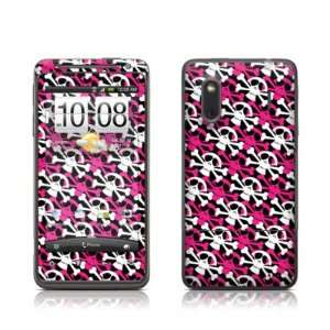 Skully Pink Design Protective Skin Decal Sticker for HTC Evo Design 4G