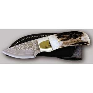 Linder 350305 Stag Damascus Skinner Hunting Knife Sports & Outdoors