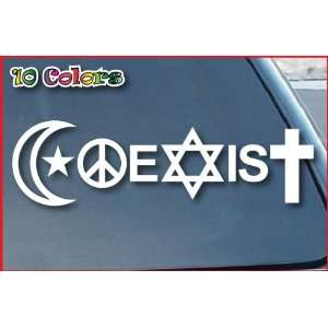 Coexist Car Window Vinyl Decal Sticker 10 Wide (Color